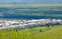 View of Cochrane From the Top of a Hill