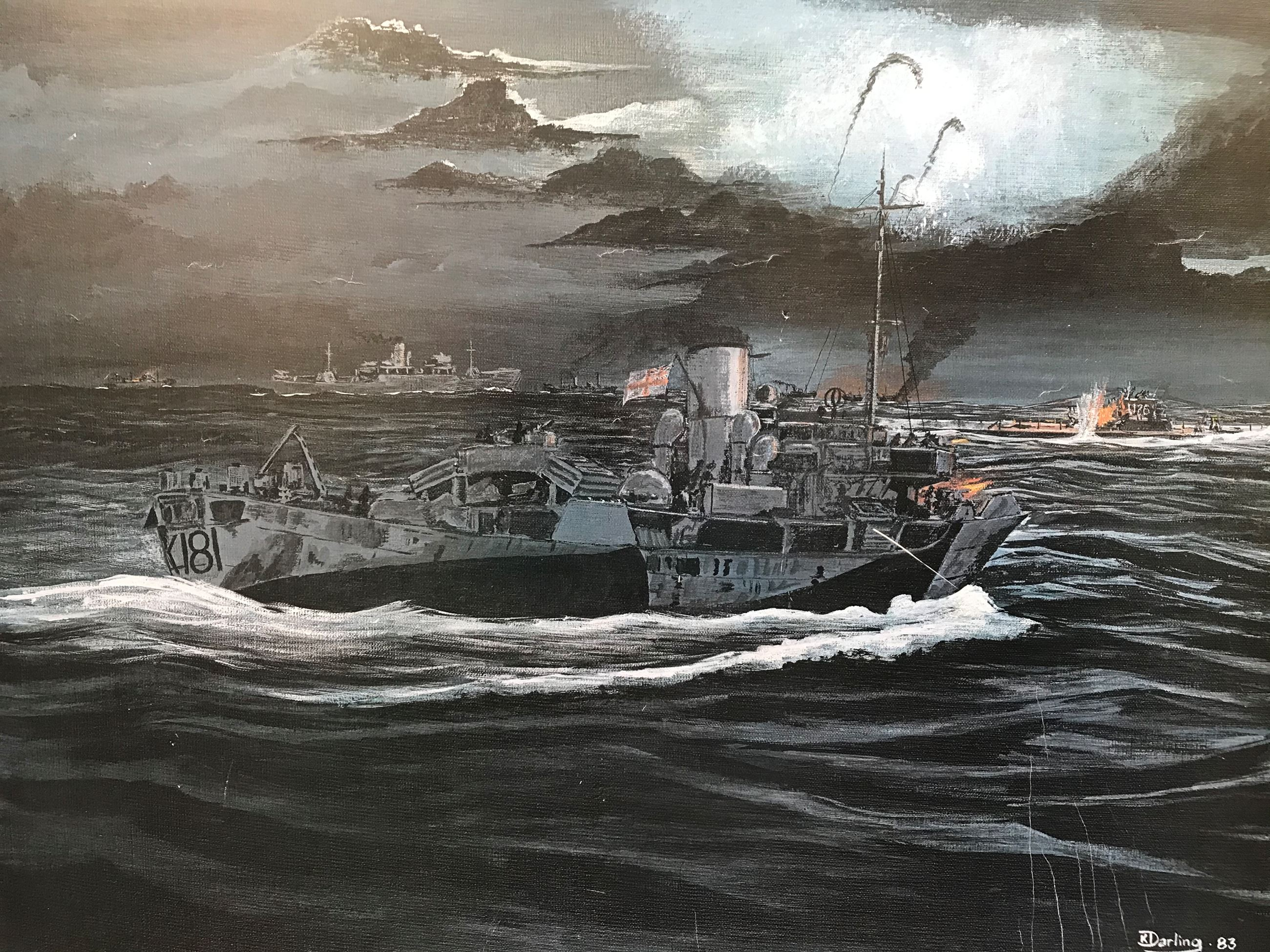 Artist K. Darling retired from the Navy worked for the Corp Commissionaires.