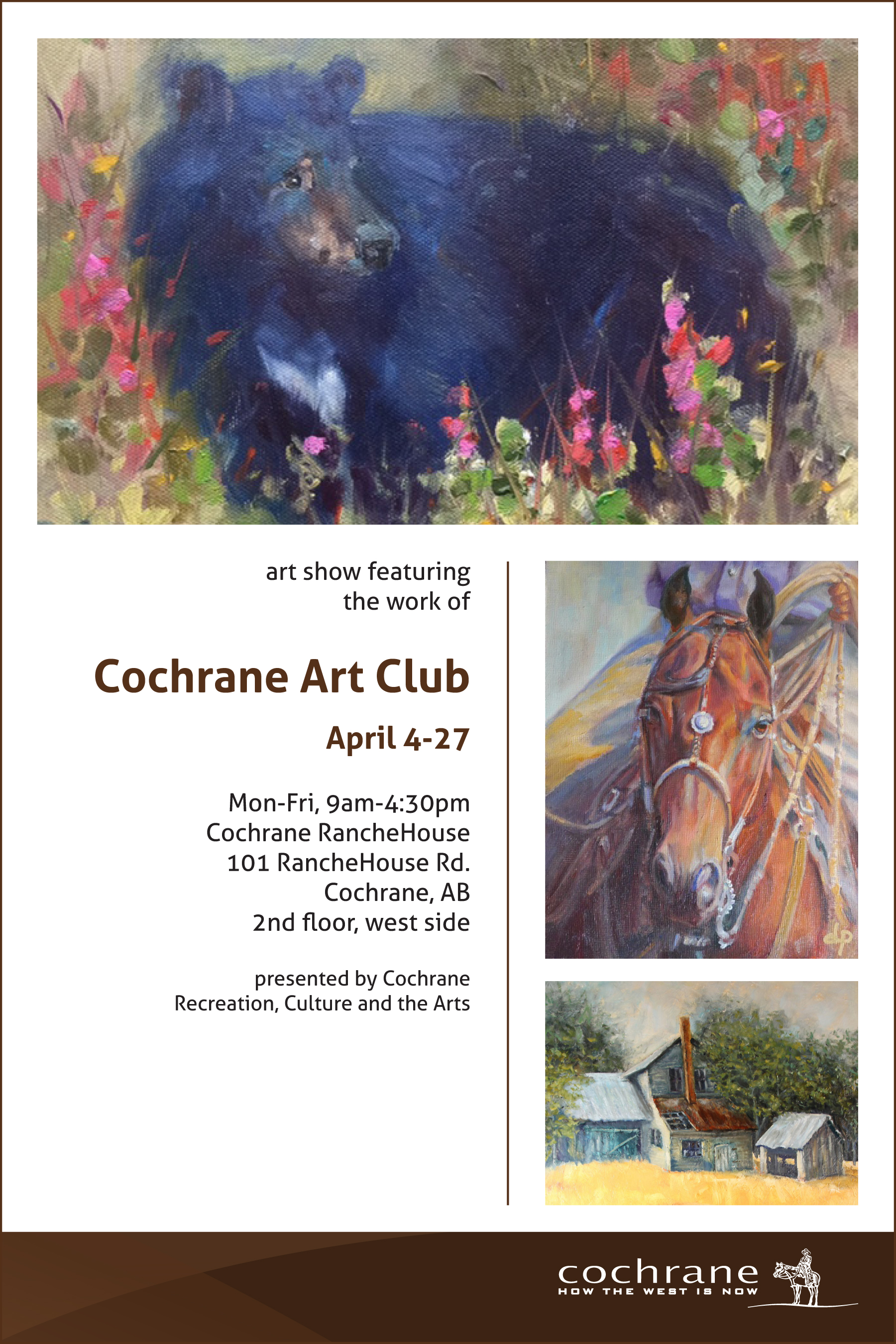 Art Show Calendar : Cochrane ab official website